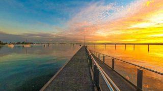 AUS旅日記#20 オーストラリアは左側に来ると海に夕日が沈む